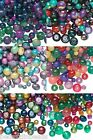 Lot of 100 Assorted Shape Size Styles  Color Fancy Mixed Glass Beads Small Big