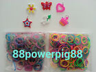 1200 Mixed Color 2 Styles A Loom Rubber Bands & 32 S Clips & 6 Charms US Seller