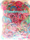 3000 Mixed Color Glitter Loom Rubber Bands & 80 S Clips US Seller
