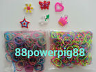 1200 Mixed Color 2 Styles C Loom Rubber Bands & 32 S Clips & 6 Charms US Seller
