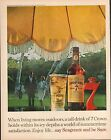 1961 SEAGRAM'S 7 ENJOY LIFE SAY SEAGRAMS BE SURE Big Full Size Vintage Ad 10x13