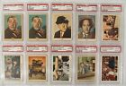 1959 Fleer Three Stooges Master Set + Checklist + Two PSA 8 Curly + 4 Gray Back