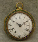 excellent 18th century london gold verge fusee ~ shagreen case