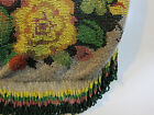 Vintage 1920s Seyfang Germany Handknit Microbeaded Bag Purse Fringed Floral