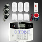 Wireless LCD GSM Home Security Alarm System+ 3Motion+ 3Door Sensors+Panic Button
