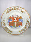 French Porcelain Hand Painted 19th Century ARMORIAL Plate