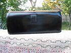 Vintage 1940+ large EVANS black leather clutch bag coin purse w/ chain crest EUC