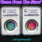 2013 2014 Australia Southern Sky Proof Colored Silver Domed Coins NGC PF70 UC !!