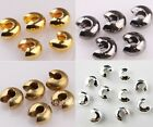 New Arrvial 200Pcs Lots Crimp Beads Covers Silver Gold Copper Black Beads 5mm