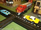 AURORA MoDEL MoToRING Tyco Road & Lighted Rail T Jet Slot Race Train Track Set