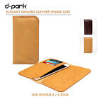 dpark Multi Wallet Case Card Pocket Cow Leather  Pouch For iPhone 6 Plus 5.5