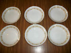 Lot of 6 Sheffield Imperial Gold  Fine China Berry Dessert Bowls 504 5 1/2