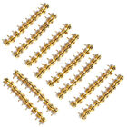 Guitar STRAP BUTTONS (50 Sets of 100) Modern Design Gold guiatr parts