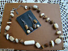 Silpada SET, White Howlite African Opal Necklace N1692 & Earring W1812  Retired!