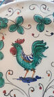 Orvieto Italy Decorative Hand Painted Rooster Plate - Numbered 740 / 58 Deruta