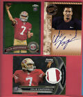 COLIN KAEPERNICK 2011 ROOKIE AUTOGRAPH + RC JERSEY PATCH + Topps CHROME RC CARD