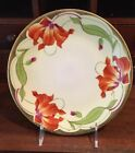 Antique Vintage Royal Rudolstadt Made in Prussia Iris Decorative Plate Signed