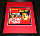 Modern Times Charlie Chaplin Framed 11x14 Poster Display Official Repro
