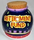 Ganz Bella Casa Retirement Fund Ceramic Jar with Cork Lid