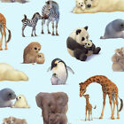 Wild Animal Baby & Mom panda elephant Zebra Giraffe Cotton print BT yard fabric
