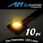 10pcs Super Bright Yellow Engine Little SMD LED Light Universal Car Motor Bike
