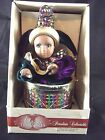 Classic Treasures Porcelain Collectible Animated Musical Jester in Drum Doll