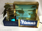 XS8 HAMMS BEER SIGN LIGHT LAKE SCENE  LIGHTED BAR TOPPER HAMM'S  VINTAGE WATER