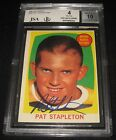 1961-62 Topps Pat Stapleton Signed Rookie Card BGS 4 JSA 10 Auto RC Bruins
