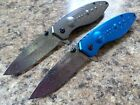 Set of 2 Wartech Galaxy Spring Assisted Opening Tactical Folder Knife Grey Blue