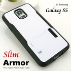 Hard Plastic Hybrid Rubber Stand Case for Samsung Galaxy S5 SV G900F i9600 HS-W