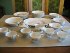 Vintage Edwin M Knowles 44 pc Dish Set Floral Pattern REDUCED PRICE