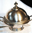 VTG VICTORIAN WILCOX MERIDEN QUADRUPLE SILVER PLATE CO FANCY CHEESE BUTTER DISH