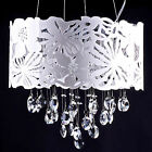 FREEDOM PENDANT LIGHT LASER CUT CHANDELIER WHITE GLASS CRYSTALS CEILING NEW LOFT