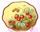 LIMOGES FRANCE HAND PAINTED STRAWBERRY PLATE - FAB!