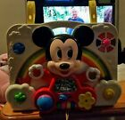 VINTAGE MATTEL MICKEY MOUSE DISNEY BABY CRIB TOY SQUEAK RATTLE MIRROR PLAY WORKS