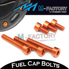 Orange CNC Billet Fuel Cap Bolts For KTM Adventure 990 S / R All Years