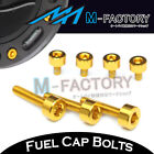 Gold CNC Billet Fuel Cap Bolts For Honda CBR1000RR Fireblade 2004 2005 2006 2007