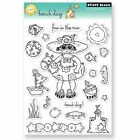 Beach Day Clear Unmounted Rubber Stamp Set PENNY BLACK NEW 30 051