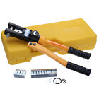 12 Ton 8 Die Hydraulic Crimper Press Cable Wire Lug Crimping Tool + Seal Kit 12T