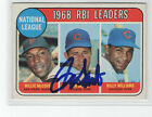 Ron Santo 1969 Topps Leaders signed autographed card Chicago Cubs