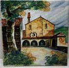 Vintage Italian Pottery Hand Painted TILE Artist Signed 8