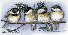 Four Chickadees On Pine Wood Mounted Rubber Stamp NORTHWOODS NEW O8880