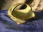 VTG. Arthur Wood Royal Bradwell Sylvan Green Lustreware Candy Dish with handle