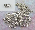500 Bali Sterling Silver 35mm Daisy Spacer Beads