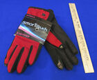 Isotoner Smart Touch Red Gloves Phone Screens Pointer Thumb Grip Palms XS SM
