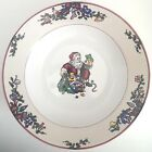 Santa's List Fitz And Floyd 9 1/8 Rimmed Soup Bowl Christmas Red Green