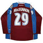 Nathan MacKinnon Signed Avalanche Maroon Premier Jersey (Frameworth Auth)