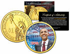 BARACK OBAMA  44th President  Presidential 1 Dollar US Coin 24K Gold Plated