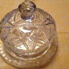 Cut Crystal Domed Cheese Plate Vintage Beautiful Heavy Fine Quality Stunning!