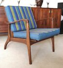 Vintage DANISH MODERN Mid-Century Walnut LOUNGE CHAIR Selig/Eames Era NO RESERVE
